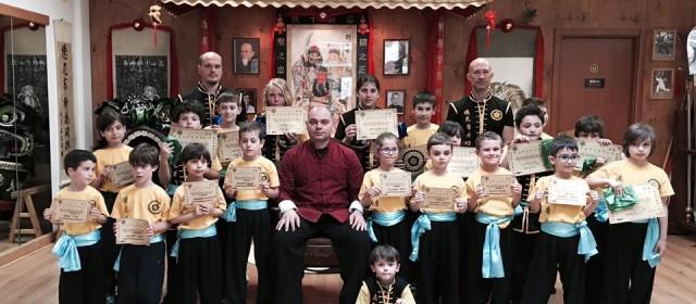 Gli esami di livello dei bambini della Scuola De Nittis Kung Fu